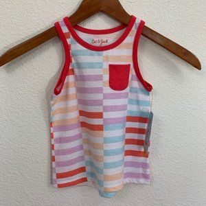 Cat & Jack Boys Striped w/ Pocket Tank Top Shirt